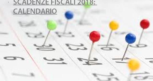 Scadenze Fiscali: Le Tasse Da Pagare Nel 2018 E Il Calendario Per Evitare  Lo Stress