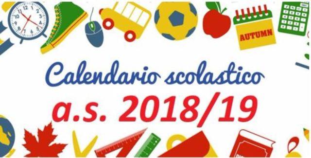 Calendario Scolastico Emilia.Calendario Scolastico 2018 2019 Inizio Lezioni Festivi E