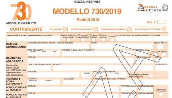 730 2019 bozza modello con le nuove detrazioni quali for 730 documenti