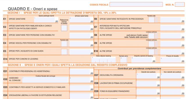 Guida alla compilazione del quadro E del Modello 730: tutte le voci di spesa detraibili suddivise per sezioni e righi. Ecco quali inserire e quanto si può recuperare.