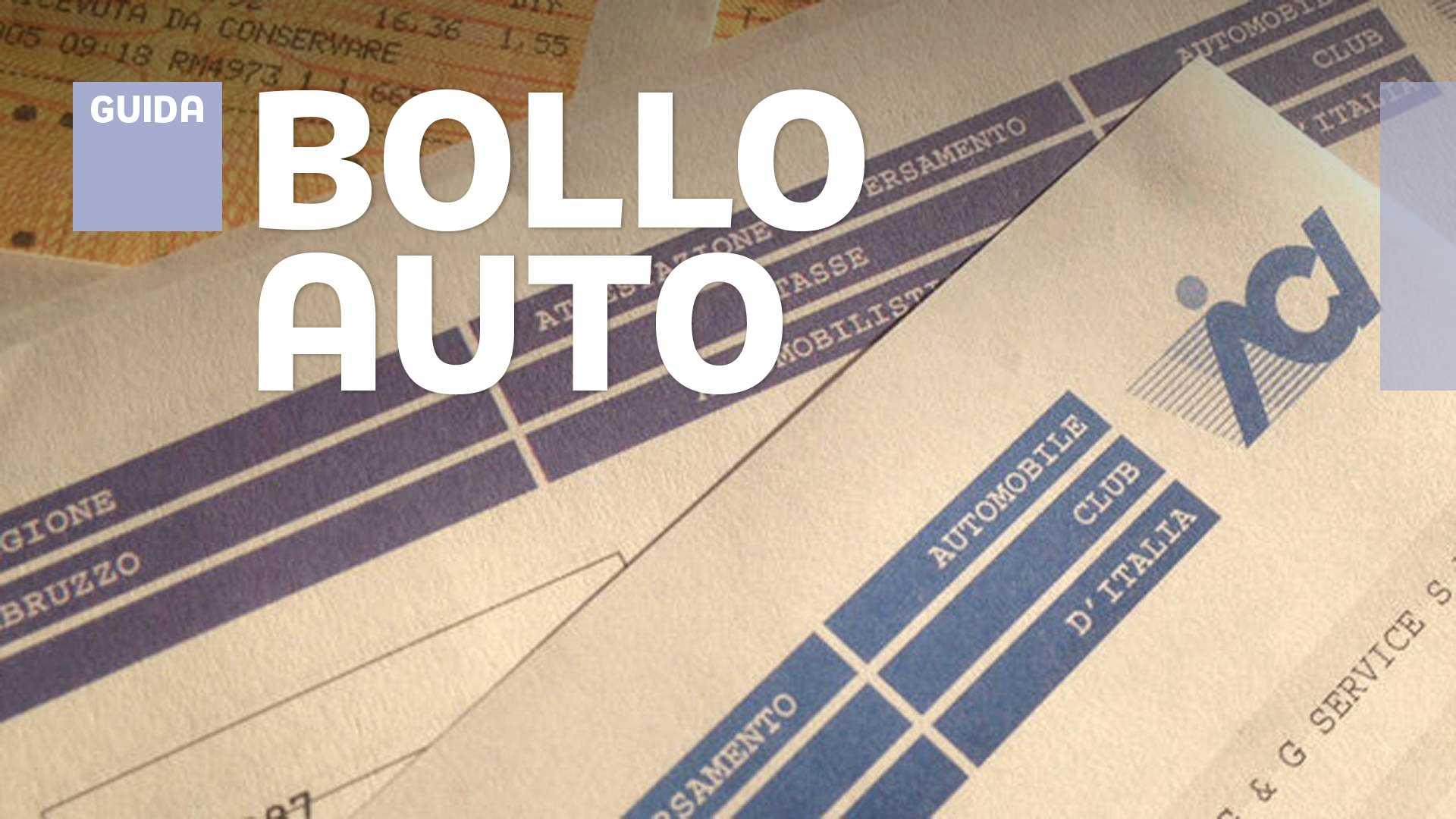 RICEVUTA BOLLO AUTO SCARICARE