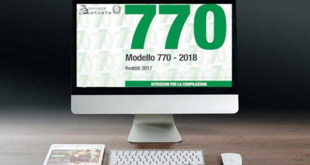 Modello 770/2021 con scadenza a novembre
