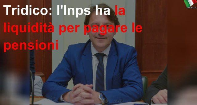 Il presidente dell'Inps Tridico rassicura i pensionati: nessun problema di liquidità. Mal interpretata una sua uscita sulla sospensione dei versamenti contributivi fino ad aprile.