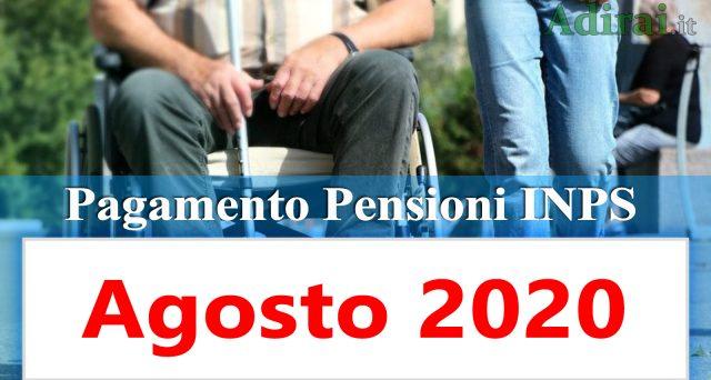 Le pensioni di agosto riscosse in Posta per contanti saranno pagate il primo giorno del mese. In arrivo anche i rimborsi Irpef.