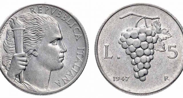 valore delle vecchie lire con immagini di frutta