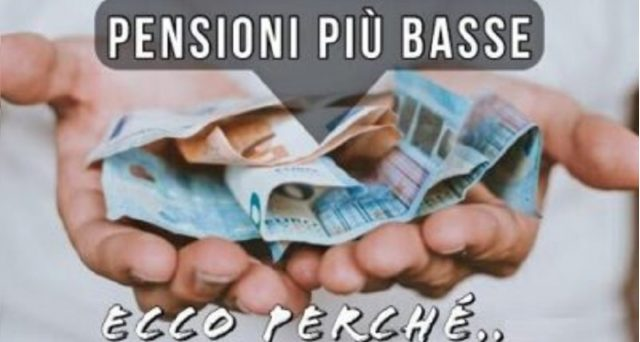 Non solo sistema contributivo, anche i coefficienti di trasformazione sempre più bassi contribuiscono al taglio delle pensioni.