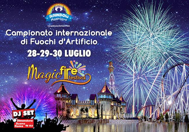 Magic Fire Festival 2017 a Rainbow Magicland: fuochi d'artificio ed eventi - InvestireOggi.it