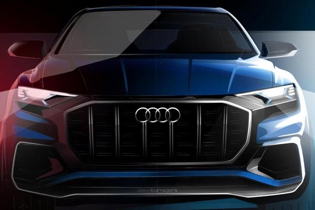Audi Q8 Concept sarà una delle maggiori novità che verranno presentate al Salone auto di Detroit 2017, pubblicati i primi bozzetti