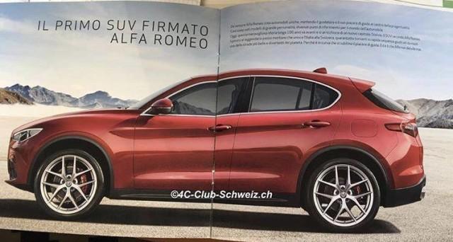 La versione First Edition di Alfa Romeo Stelvio è protagonista di alcune immagini inedite provenienti dalla Svizzera che mostrano la Brochure