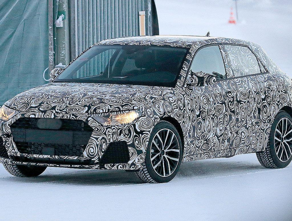 Prime foto spia del restyling di Audi A1 2018, un'auto molto attesa che sarà mostrata durante il prossimo autunno al Salone di Francoforte