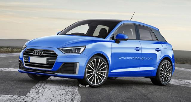 Audi A1: un nuovo render la immagina nel suo aspetto definitivo, basandosi sulel foto spia apparsw circa un mese fa sul web