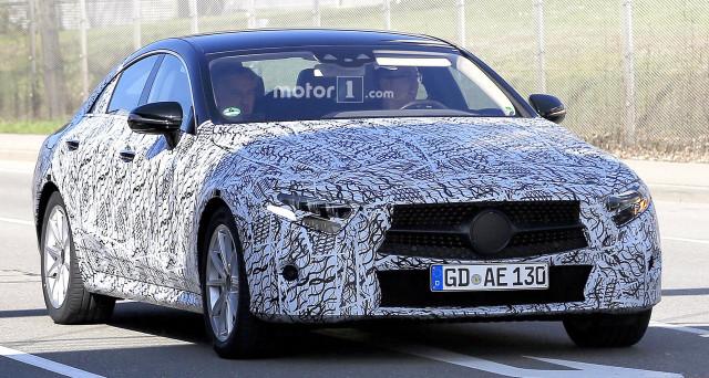 Nuova Mercedes CLS 2018: un nuovo video spia mostra il prototipo camuffato della futura vettura che forse sarà mostrata al Salone auto di Francoforte 2017