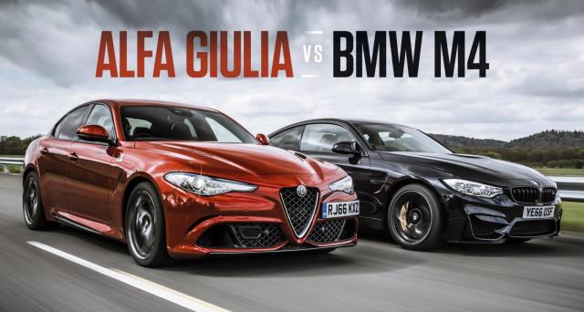 Alfa Romeo Giulia Quadrifoglio nella sfida con Bmw M4 Competition Package vince il confronto, secondo gli esperti di Top Gear