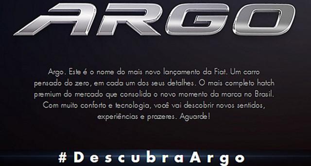 Fiat Argo dovrebbe essere il nome scelto dalla principale casa automobilistica italiana per il progetto X6H, che sarà mostrato a giugno in Brasile