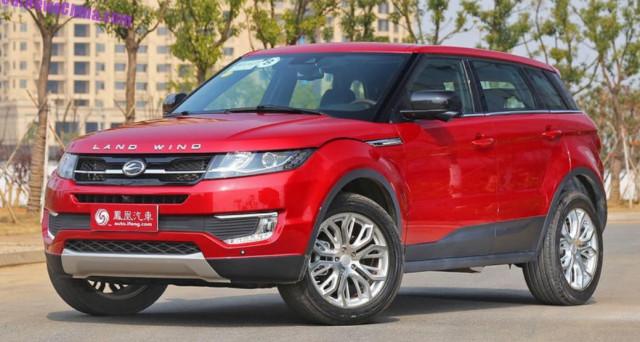 LandWind X7 clone di Range Rover Evoque