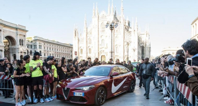 Alfa Romeo Giulia Quadrifoglio protagonista di Breaking2 Together