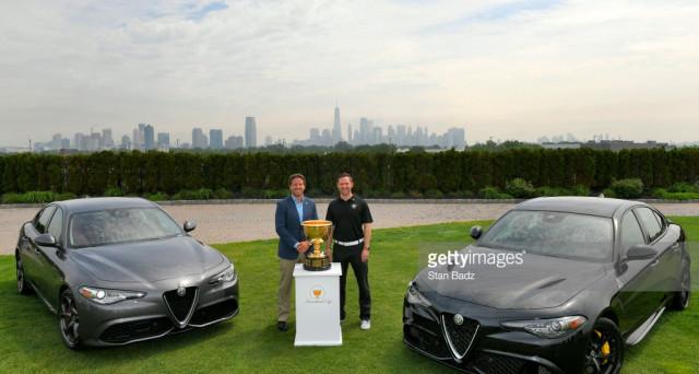 Alfa Romeo presente alla Presidents Cup in qualità di sponsor per promuovere il Suv Stelvio