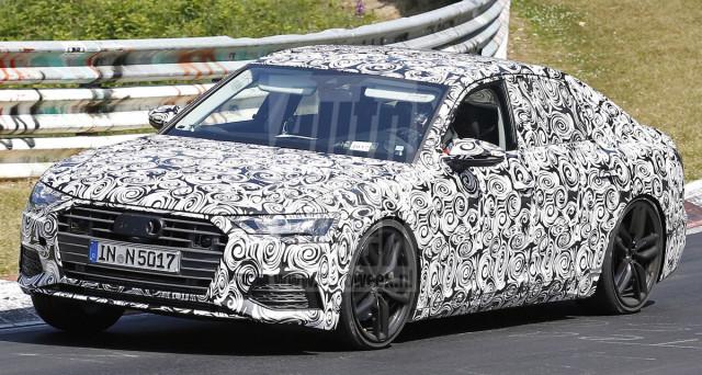 Audi A6: ecco le nuove foto spia del muletto camuffato della nuova generazione del veicolo che sarà presentata ufficialmente nel 2018.