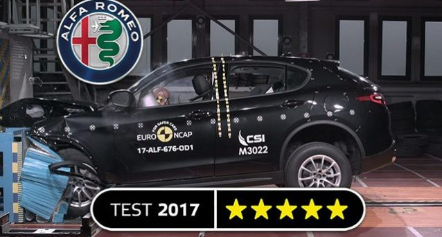 Alfa Romeo Stelvio: i crash Test di Euro NCAP sono andati a gonfie vele, il primo Suv nella storia del Biscione ha ottenuto 5 stelle.