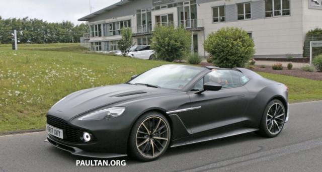 Prime foto spia per la nuova Aston Martin Vanquish Zagato Speedster, la top di gamma della serie Zagato immortalata nei pressi del Nurburgring