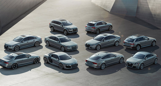 Audi si prepara a sorpassare come numero di vendite anche Chrysler nel mercato auto statunitense nel 2017, sarebbe il quinto grande marchio superato in USA.