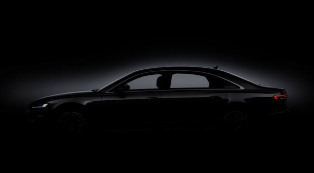 Audi A8: la nuova vettura della casa di Ingolstadt verrà presentata giorno 11 luglio a Barcellona, ecco le prime immagini teaser