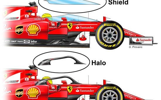 La nuova protezione Shield farà il suo esordio domenica nel Gran premio di Silverstone