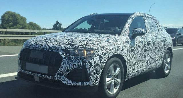 Audi Q3: ecco le prime foto spia del prototipo camuffato della nuova generazione della celebre vettura della casa di Ingolstadt che arriverà nel 2018.
