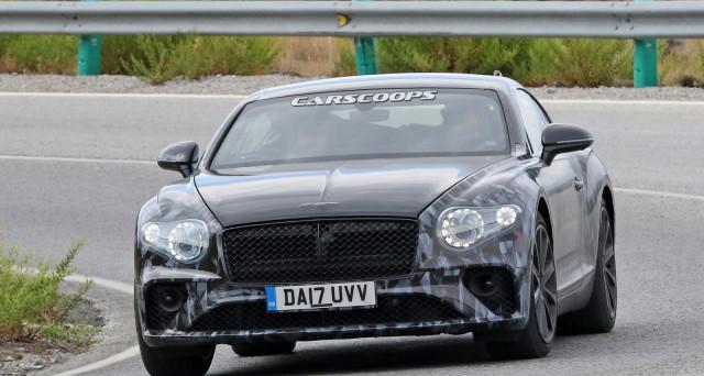 Bentley Continental GT 2018: ecco le ultime foto spia del nuovo modello che sarà presentato quasi certamente al Salone dell'auto di Francoforte 2017