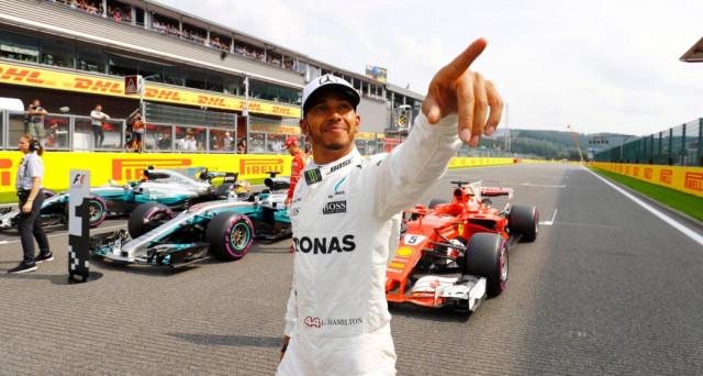 Formula 1: in Belgio sul circuito di SPA trionfa Lewis Hamilton su Mercedes davanti alla Ferrari di Sebastina Vettel, solo 7 punti dividono i due piloti