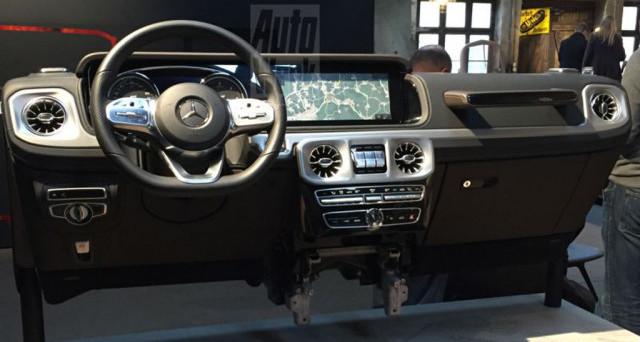 Mercedes-Benz Classe G: le ultime foto spia del celebre veicolo della casa di Stoccarda mostrano i cambiamenti relativi all'abitacolo della vettura