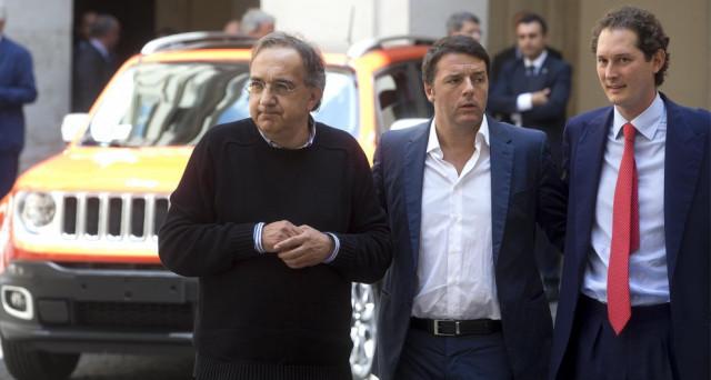 L'ex Premier Matteo Renzi chiede a Sergio Marchionne CEO di Fiat Chrysler di mantenere le promesse sull'occupazione negli stabilimenti del suo gruppo.