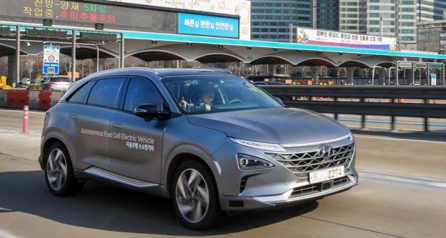 Hyundai: una flotta di veicoli elettrici a guida autonoma di livello 4 ha percorso 190 km ad una media di 100/110 km orari in Corea del Sud.