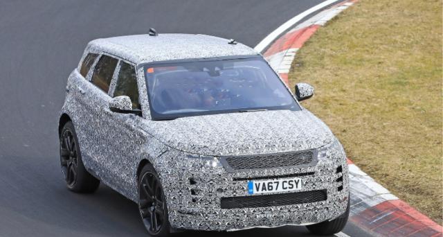 Nuova Range Rover Evoque: ecco le ultime foto spia provenienti direttamente dal Nurburgring, il suo debutto al Salone di Parigi 2018.