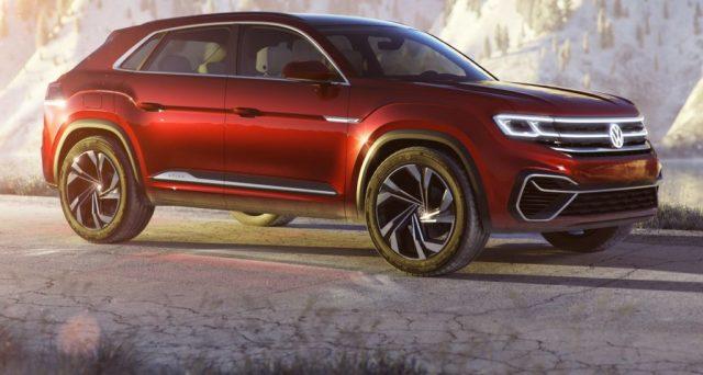 Nuova Volkswagen Atlas: la versione a 5 posti del Suv debutterà al Salone di New York 2018, ecco l'ultima immagine teaser.