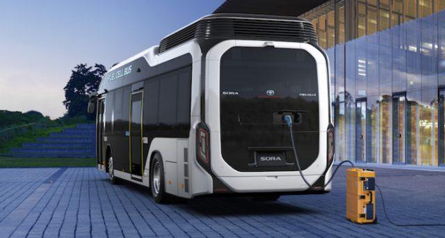 Toyota Bus Fuel Cell:lancio commerciale del primo bus con motori elettrici alimentati da pile combustibile a idrogeno.