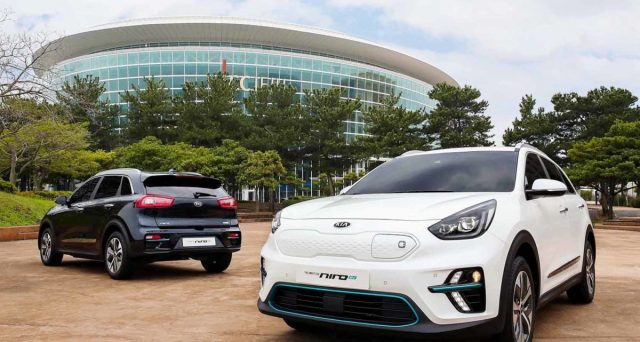 Kia Niro EV è stata mostrata in anteprima nei giorni scorsi all'International Electric Vehicle Expo di Jeju.