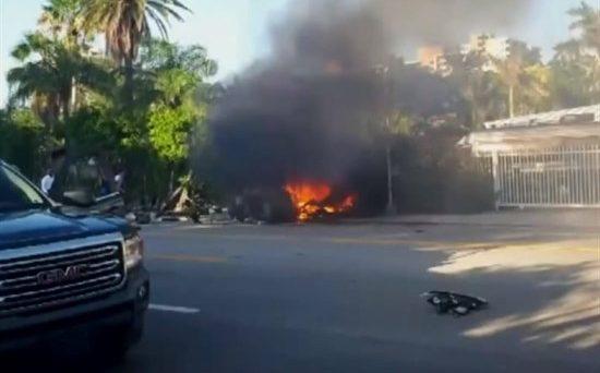 La Tesla Model S rimasta coinvolta in un incidente mortale in Florida andava ad altissima velocità, la batteria ha preso fuoco più volte.