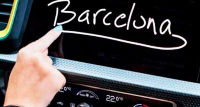 Nuova Audi A1: la prima immagine teaser della nuova generazione mostrail nuovo display touchscreen.