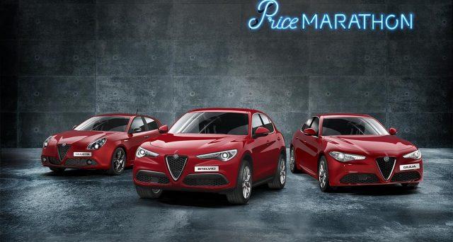 Alfa Romeo: torna la Price Marathon e tutti i modelli del Biscione in pronta consegna vengono offerti con super sconti.