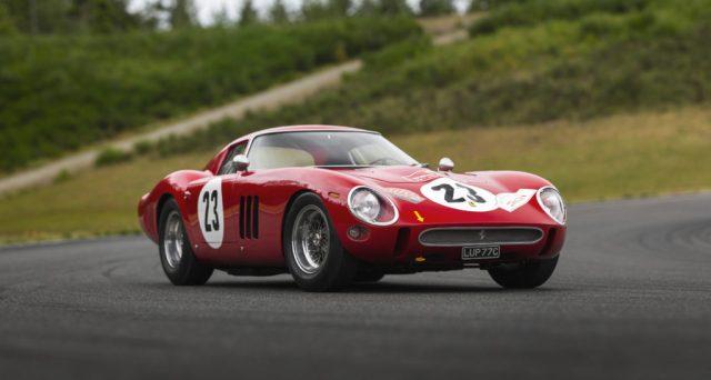Ferrari 250 GTO: un esemplare del 1962 è stato venduto alla cifra record di 48 milioni di dollari.