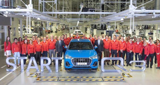 Nuova Audi Q3: inizia in Ungheria la produzione della nuova generazione del celebre crossover della casa tedesca.