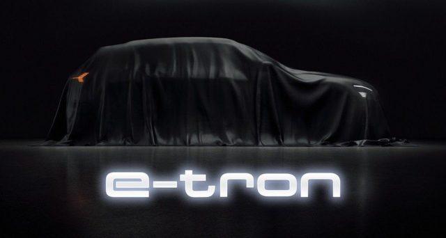 Audi e-tron: nuove immagini teaser del futuro crossover elettrico in attesa del debutto che avverrà il 17 settembre prossimo.