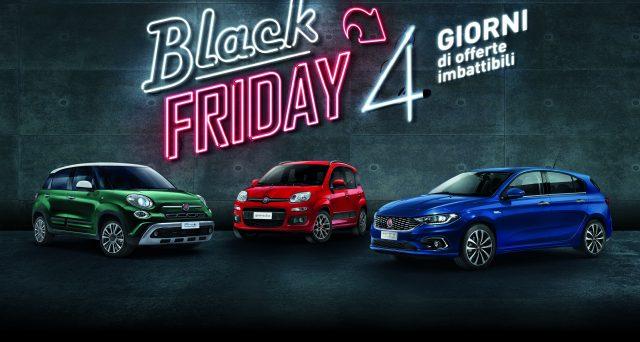 Da domani 4 giorni di offerte speciali in Italia  per Fiat e Lancia che vogliono così festeggiare il Black Friday
