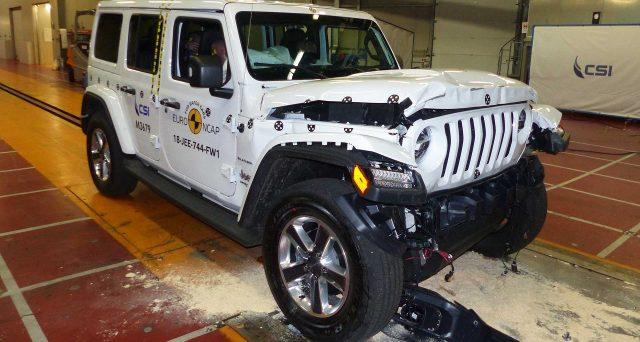 Nuova Jeep Wrangler: l'iconico modello nella sua nuova generazione ha ricevuto solo 1 stella nei Crash Test di Euro NCAP