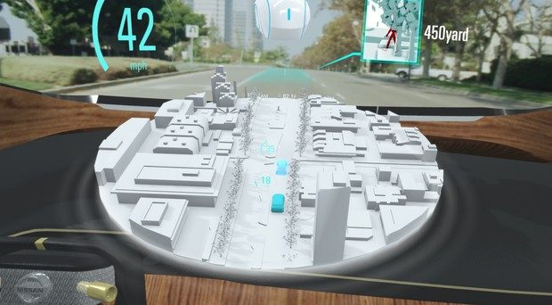 La nuova tecnologia permetterà ai veicoli di mostrare i pericoli