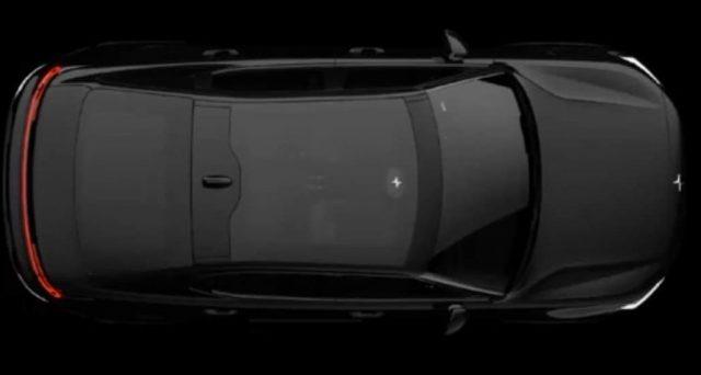 Polestar ha rilasciato una nuova immagine della sua Polestar 2 la vettura che proverà a sfidare sul mercato Tesla Model 3