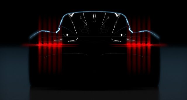 Ecco la prima immagine della nuova super car della casa inglese pronta a debuttare molto presto