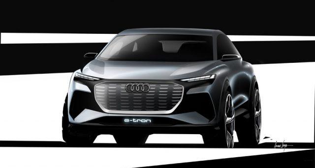 La casa di Ingolstadt pubblica i primi bozzetti del suo Audi Q4 e-tron che debutterà al Salone di Ginevra