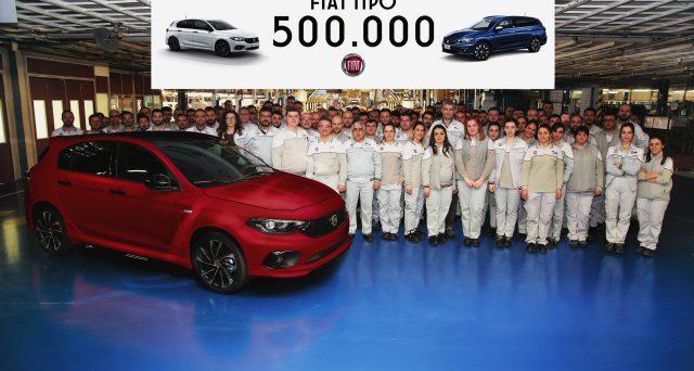 La vettura di Fiat ha raggiunto un traguardo importante con la produzione in Turchia dell'esemplare numero 500 mila
